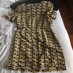 Fossil patterned dress